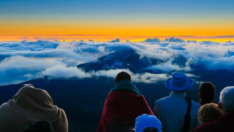 Haleakala Sunrise, The Easy Way - Haleakala Sunrise, The Easy Way. Copyright ShoreTrips.com.