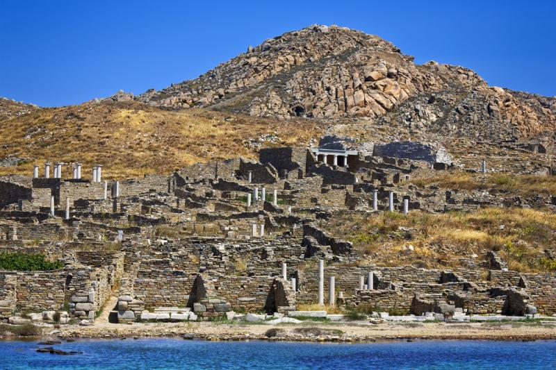 the sacred island of delos mykonos greece europe