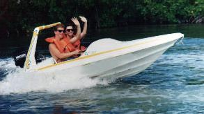 Your Own Mini Speedboat Through The Mangroves Of Cancun - Your Own Mini Speedboat Through The Mangroves Of Cancun. Copyright ShoreTrips.com.