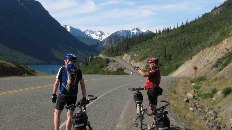 Yukon Road Bike Tour - Yukon Road Bike Tour. Copyright ShoreTrips.com.