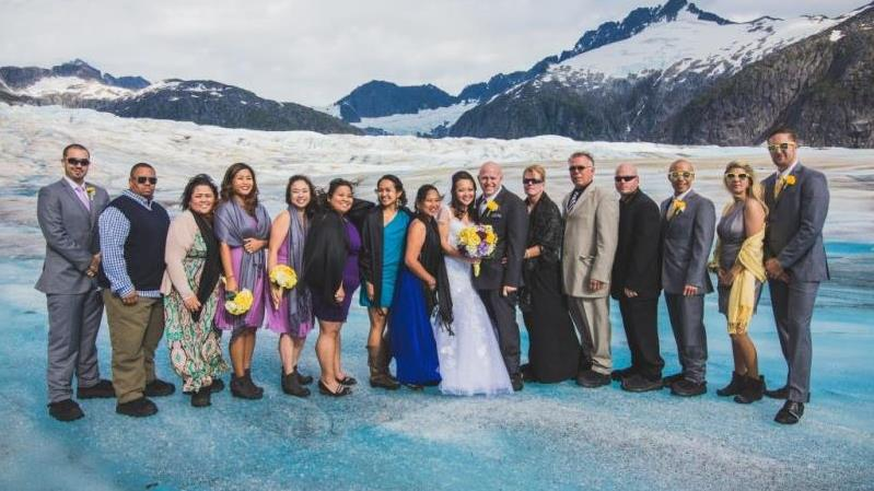 Helicopter Wedding On A Glacier