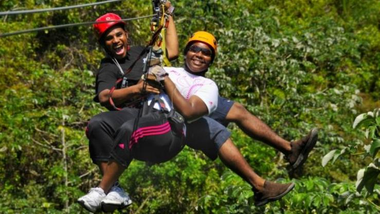 TREE TOP CANOPY ADVENTURE WITH BEACH STOP